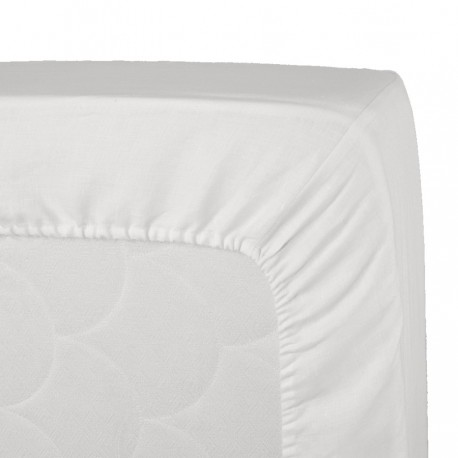 Mattress Cover Zucchi White Microsponge With Elastic Angles