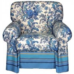 Housse De Fauteuil Bassetti Granfoulard Simpson Bleu