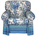 Armchair Cover Bassetti Granfoulard Simpson Blue