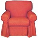 Armchair Cover Bassetti Granfoulard Shamsa Raspberry Red