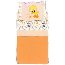 Complete Sheet Set Bassetti Kids Tweety My Friends Beige