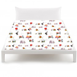 Flat Sheet Bassetti Without Elastic Angles Queen Size