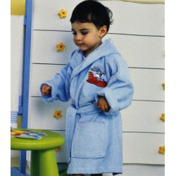 Peignoior De Bain Brodé Bugs Bunny Bassetti Kids Baby Plane V1