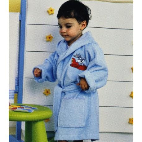 Bathrobe Embroidered Bugs Bunny Bassetti Kids Baby Plane V1