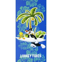 Beach Towel Tweety and Sylvester Bassetti Kids Warner Bros Surf Friends V1