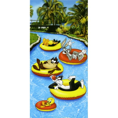 Beach Towel Bassetti Kids Warner Bros Jungle Rapid V1