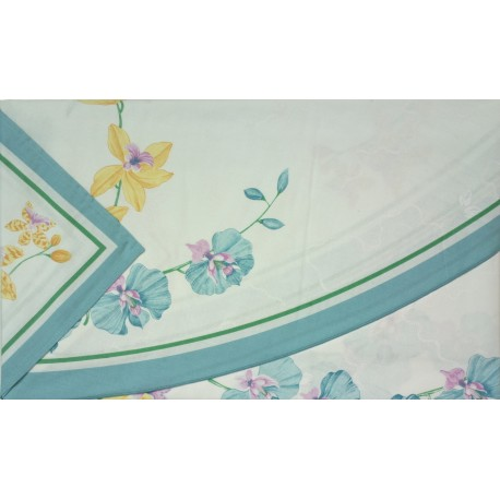Round Tablecloth With Napkins Gran Tavola Bassetti Orchidea V2