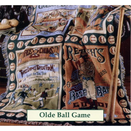 Throw Bassetti Olde Ball Game