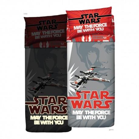 Complet Parure De Draps Couvre-Lit Bassetti Taille Simple Star Wars Luke