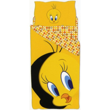 Complet Parure Housse De Couette Titi Bassetti Kids Yellow Tweety V4