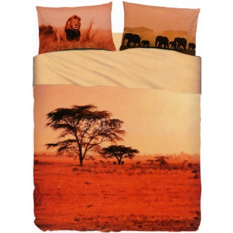 Completo Letto Copriletto Bassetti Imagine Red Savana V1