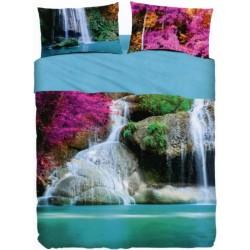 Completo Letto Copriletto Bassetti Imagine Water Falls V1