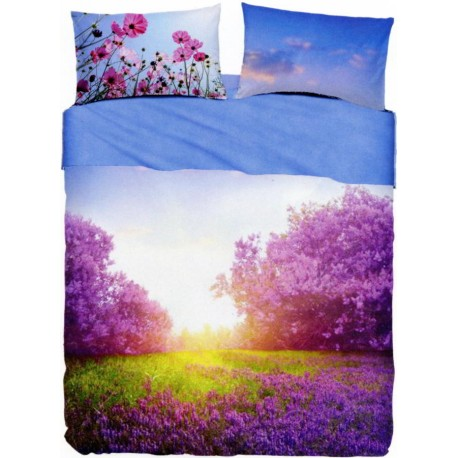 Bedcover Sheet Set Bassetti Imagine Purple Summer V1