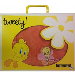 Bathrobe Embroidered Tweety Bassetti Kids Summer Time V1