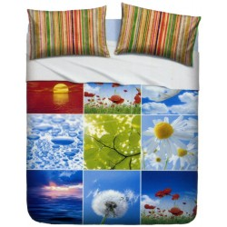 Bedcover Sheet Set La Natura Bassetti Beautiful Nature V1