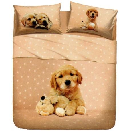 Bedcover Sheet Set La Natura Bassetti Golden Puppy V1