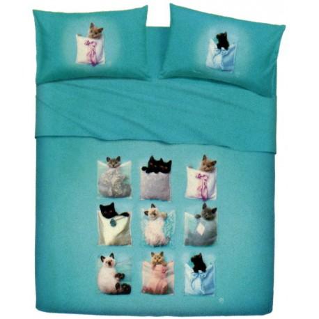 Parure De Drap Couvre-Lit La Natura Bassetti Kitties V1