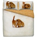 Duvet Cover Set Bassetti La Natura Snuggling Cat And Rabbit
