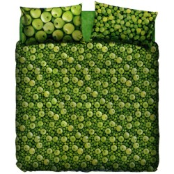Duvet Cover Set Bassetti La Natura Green Apple