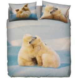 Parure Copripiumino Bassetti La Natura Lovely Teddy Orsi Polari