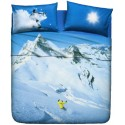 Sheet Set Bassetti La Natura Snowboard In The Mountains
