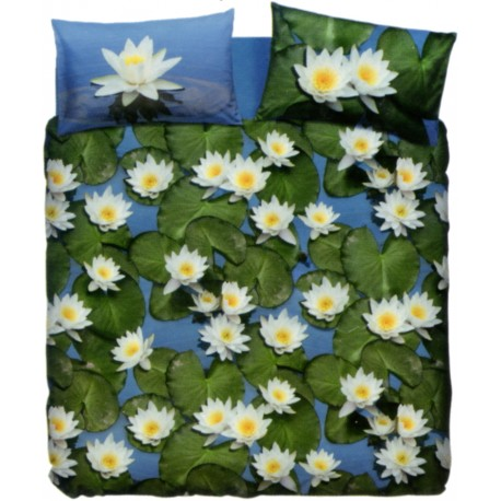 Complet Parure Housse De Couette La Natura Bassetti Water Lily V1