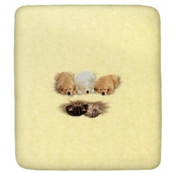Fitted Sheet Bassetti La Natura Lullaby Golden Retriever Pups