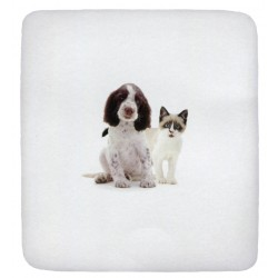 Fitted Sheet Bassetti La Natura One Two A Baby Ti Proteggo Springer Spaniel and Snowshoe