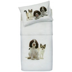 Complete Sheet Set Bassetti La Natura One Two A Baby Ti Proteggo Springer Spaniel and Snowshoe