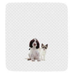 Quilted Bedcover Bassetti La Natura Ti Proteggo Springer Spaniel and Snowshoe