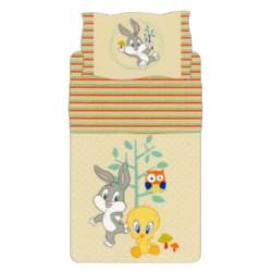 Complete Parure De Draps Bassetti Kids Titi et Bugs Bunny Nature Fantasy Beige