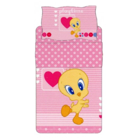 Complete Bedcover Sheet Set Bassetti Kids Tweety Play Time V1