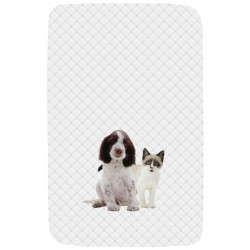 Quilted Bedspread And Bumpers Bassetti La Natura Ti Proteggo Springer Spaniel and Snowshoe