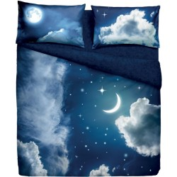Complete Duvet Cover Set Bassetti Imagine Sweet Moon V1