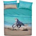 Complete Sheet Set Bassetti Imagine Free Run Horse On The Beach