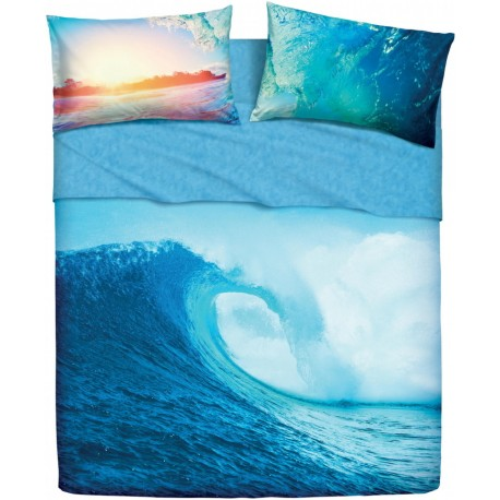 Completo Letto Copriletto Bassetti Imagine Ocean Wave V1