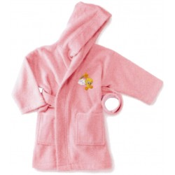 Bathrobe Embroidered Tweety Bassetti Kids Baby Sky V1