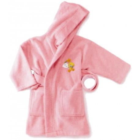 Bathrobe Embroidered Tweety Bassetti Kids Baby Sky V1