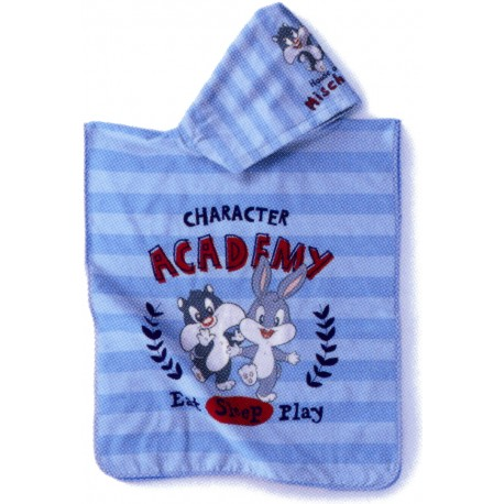 Poncho Ricamato Bugs Bunny e Silvestro Bassetti Kids Royal Trouble V1