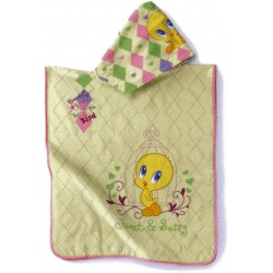 Embroidered Poncho Tweety Bassetti Play Time Trouble V1