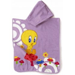 Poncho Bassetti Kids So Tweety