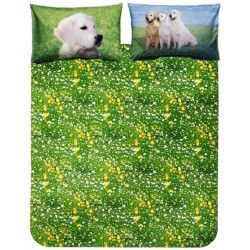 Duvet Cover Set Bassetti La Natura Golden Retriever