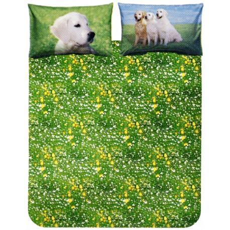 Duvet Cover Set La Natura Bassetti Golden Retriever V1