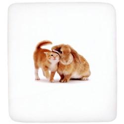 Lenzuolo Da Sotto Bassetti La Natura One Two A Baby Coccolo Con Angoli Gattino E Coniglio