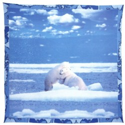 Decorative Throw Bassetti La Natura Polar Bears
