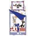 Complete Parure De Couettes Bassetti Looney Tunes USA Titi Sylvestre Le Chat Et Bugs Bunny