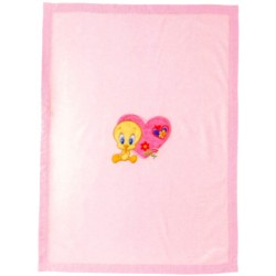 Plaid Brodée Bassetti Kids So Tweety Titi V1