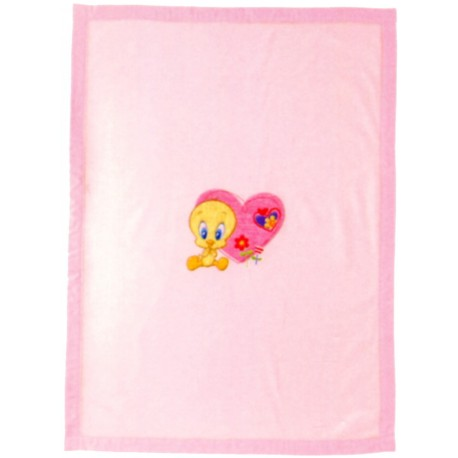 Plaid Ricamato Bassetti Kids So Tweety Titti V1