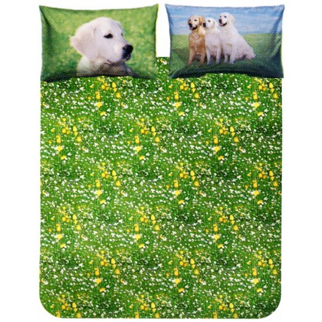 Complete Duvet Cover Set Bassetti La Natura Golden Retriever