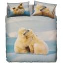 Complete Duvet Cover Set Bassetti La Natura Lovely Teddy Polar Bears